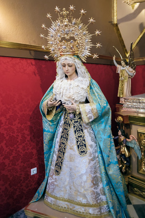 incarnation: Statue of a Saint in the Church of the Encarnacion in Marbella
