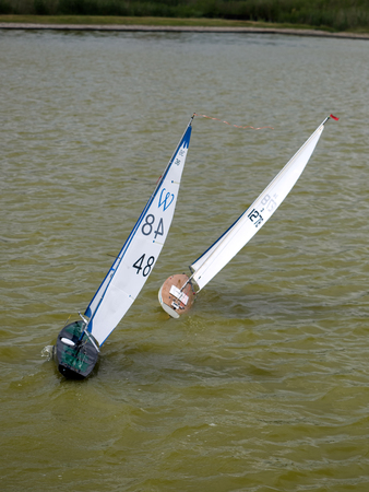 spinnaker: Radio Controlled Yachts on a Lake in Southwold