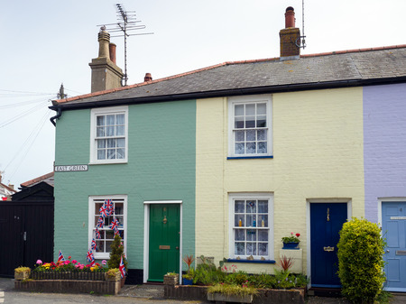 southwold: Row of Colourful Houses in Southwold