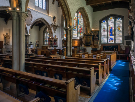 seething: Interior of St Olaves Church Seething Lane London Editorial
