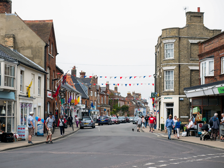 southwold: People Walking around Southwold Town Centre