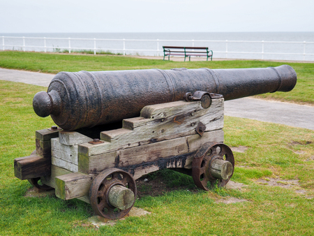 southwold: Ancient Cannon on Display in Southwold