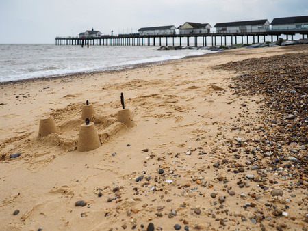 sandcastle: Sandcastle on the Beach at Southwold