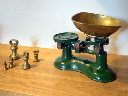 priory: Interior View of Old Kitchen Scales at Michelham Priory