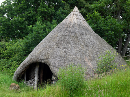 priory: Reconstruction of a Late Bronze Age Roundhouse in the grounds of Michelham Priory
