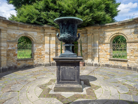 Ancient Urn on Display in the Garden at Hever Castle
