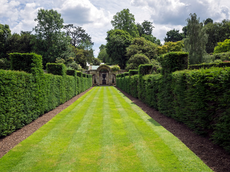 View of the Garden at Hever Castle on a Sunny Summer Day