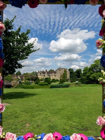 View of Hever Castle on a Sunny Summer Day Editorial