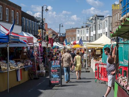 grinstead: Market in London Road  East Grinstead Editorial