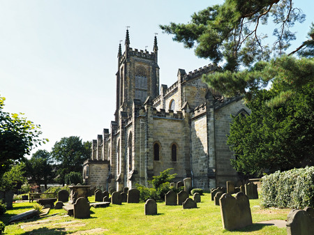 grinstead: View of St Swithuns Church in East Grinstead Stock Photo