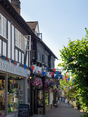 grinstead: View of the High Street in East Grinstead Editorial
