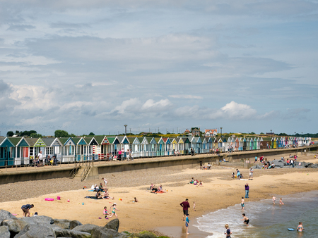southwold: People Enjoying the Beach at Southwold