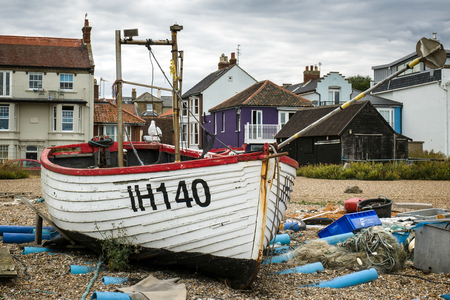 Traditional Fishing Boat on the Beach at Aldeburgh Editorial