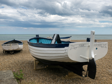 Traditional Fishing Boats on the Beach at Aldeburgh Editorial