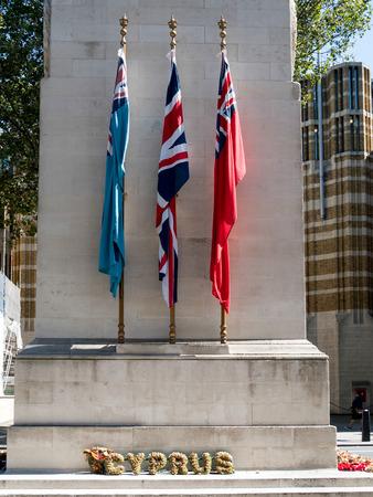 armistice: Cenotaph War Memorial in Whitehall London Editorial