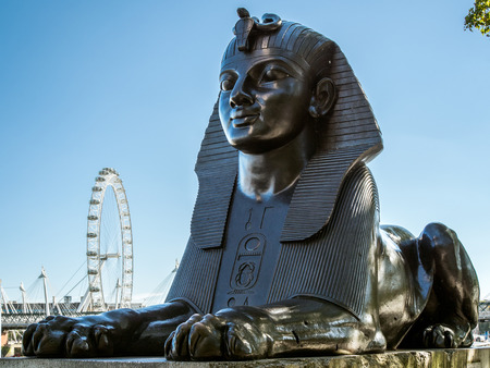 The Sphinx on the Embankment in London