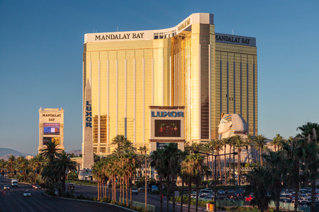 View of Mandalay Bay Hotel in Las Vegas