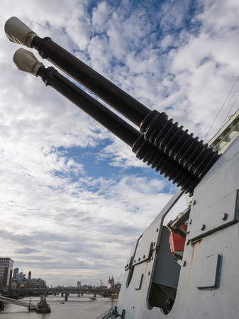hms: Bophors Guns on HMS Belfast