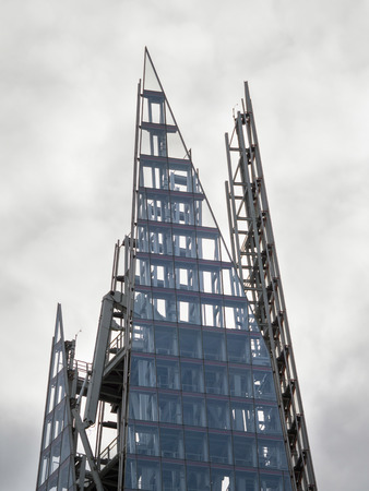 tallest bridge: Close-up of the Top of the Shard Editorial