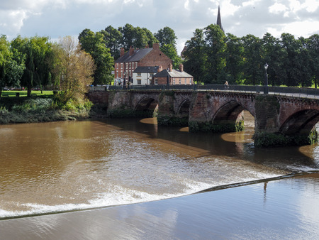 chester: Bridge over the River Dee at Chester