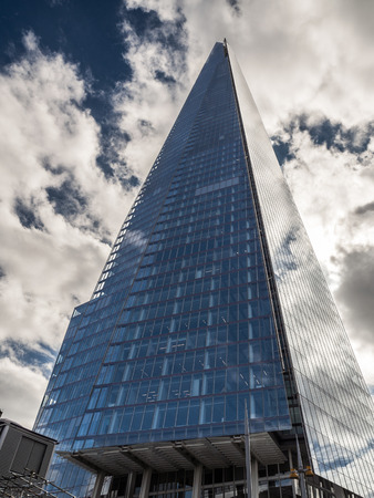 dominating: The Shard Dominating the London Skyline Editorial
