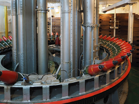 hms: Armoury Full of Shells on HMS Belfast Editorial