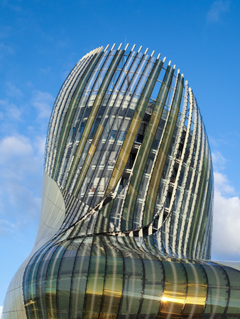 oenology: View of La Cite du Vin Building in Bordeaux