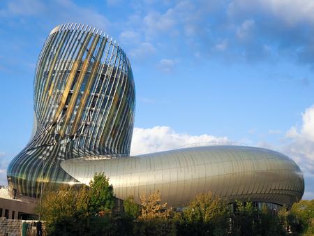 View of La Cite du Vin Building in Bordeaux