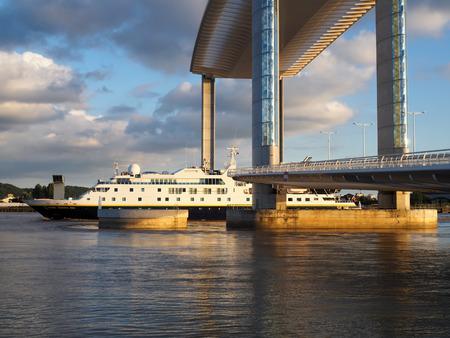 jacques: New Lift Bridge Jacques Chaban-Delmas Spanning the River Garonne at Bordeaux