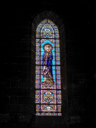 stained glass windows: Stained Glass Windows in the Church of St Martial in Bordeaux