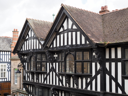 tudor: Old Tudor Buildings in Chester Stock Photo