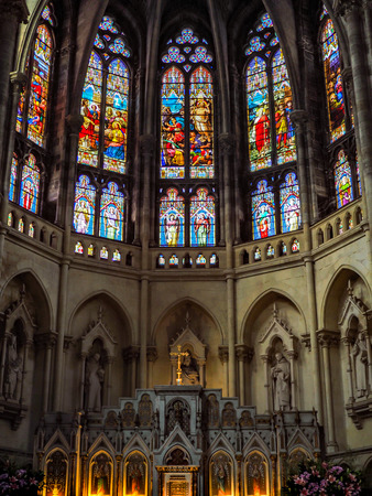 Stained Glass Windows in the Church of St Martial in Bordeaux