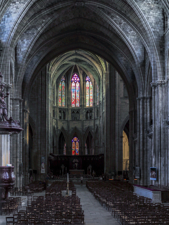 andrew: Interior View of the Cathedral of St Andrew in Bordeaux