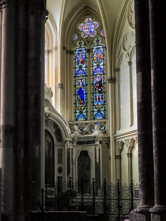 andrew: Stained Glass Windows in the Cathedral of St Andrew in Bordeaux