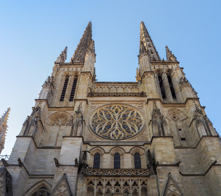 andrew: Facade of the Cathedral of St Andrew in Bordeaux