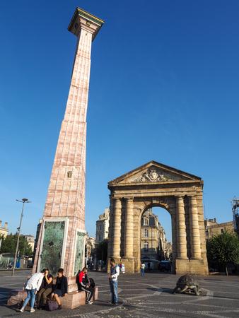 obelisk stone: Place de la Victoire in Bordeaux
