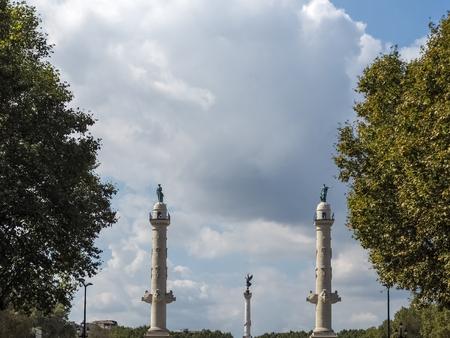 bordering: Statues Bordering the Esplanade des Quinconces in Bordeaux