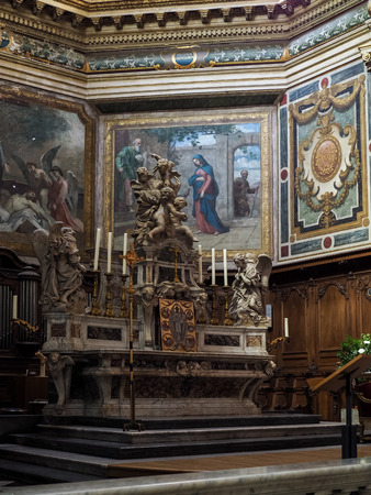 Interior View of the Altar in the Church of Notre Dame in Bordeaux