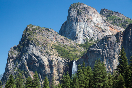 Waterfall in Yosemite on a Summers Day