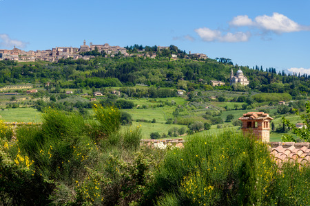 montepulciano: View of San Biagio Church and Montepulciano in Tuscany