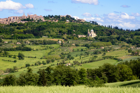 montepulciano: View of Montepulciano in Tuscany