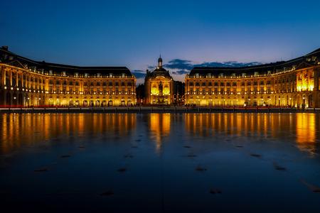 Miroir dEau at Place de la Bourse in Bordeaux