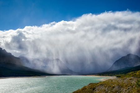 Storm Clouds Gathering over Lake Sherburne