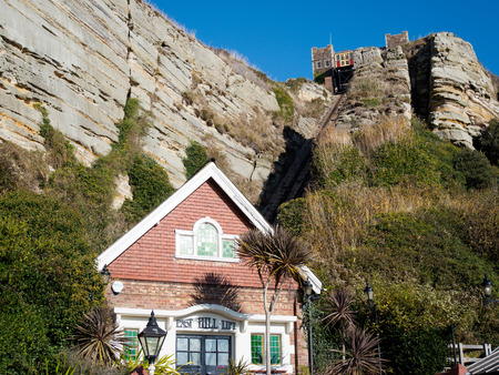 East Hill Funicular Railway in Hastings Editorial