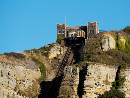 hastings: East Hill Funicular Railway in Hastings Editorial