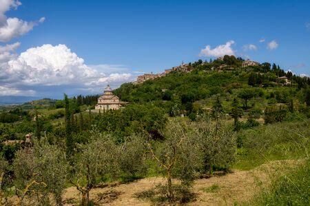 montepulciano: View of San Biagio Church Tuscany near Montepulciano Stock Photo