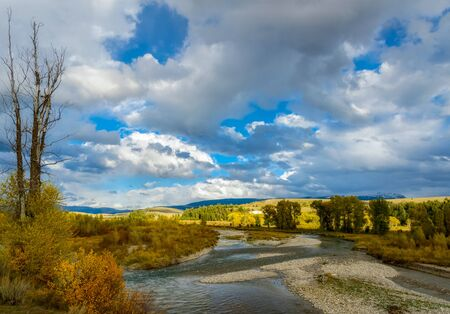 View along the Gros Ventre River