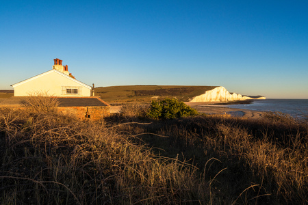 Old Coastguard Cottages at Seaford Head