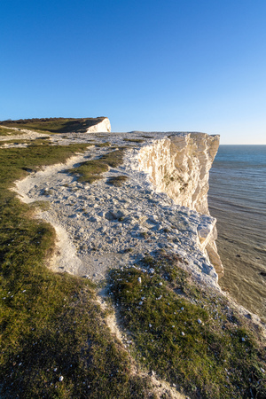 White Cliffs at Seaford Head Stock Photo