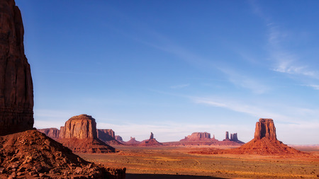 Scenic View of Monument Valley in  Utah Stock Photo
